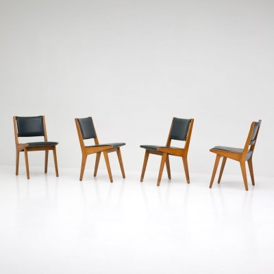 Jens Risom 'Model 666' Chairs by De Coene for Knoll