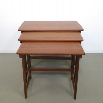 Teak nesting tables, ca 1960