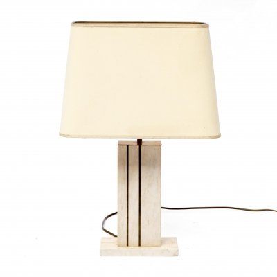 Traverine table lamp by Camille Breesch, Belgium 1970s
