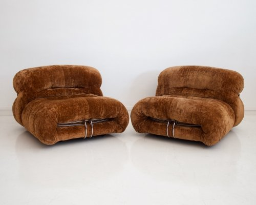 Pair of 'Soriana' Lounge Chairs by Afra & Tobia Scarpa for Cassina