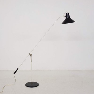 Metal floor lamp by J. Hoogervorst for Anvia Almelo, The Netherlands 1950's