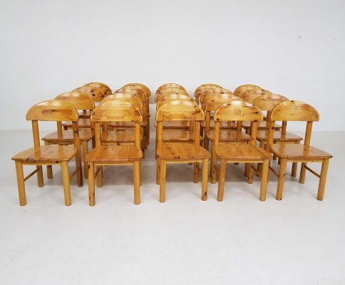 Set of 20 Pinewood Dining Chairs by Rainer Daumiller, 1970s