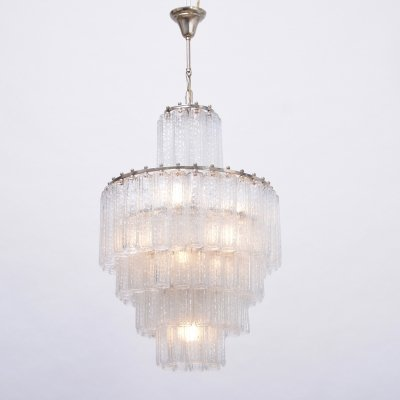 Vintage Italian Glass Chandelier by Venini