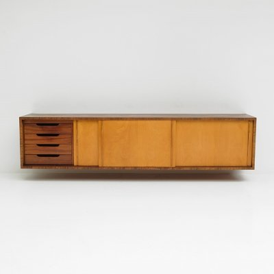 One of a kind floating sideboard designed by Lucien Engels