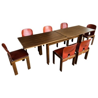 Afra & Tobia Scarpa Midcentury '121' & '778' Dining Room set for Cassina, 1967