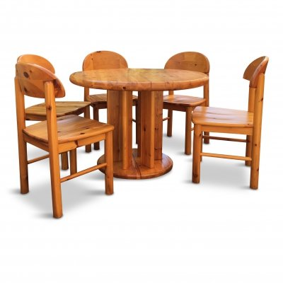 Danish Pine Dining set by Rainer Daumiller for Hirtshals Sawmil, 1970s