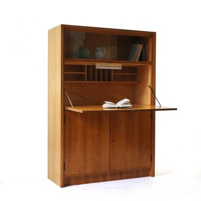 Walnut Secretary, 1950s