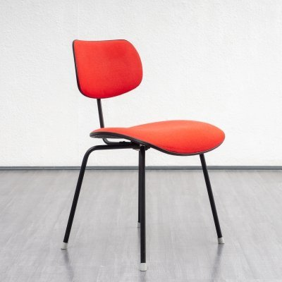 Red & black SE 68 side chair by Egon Eiermann for Wilde + Spieth, 1950s