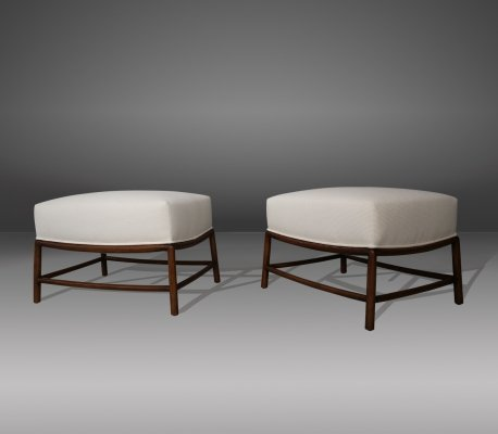 Rare Pair of restored 1950s T.H. Robsjohn-Gibbings stools