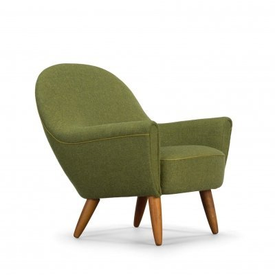 Green original lounge chair by Johannes Andersen for CFC Silkeborg
