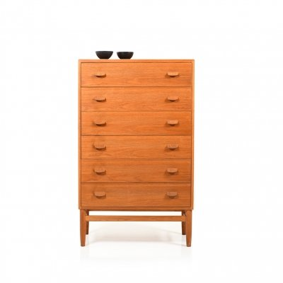 Mid Century Danish 'F17' Tallboy Chest by Poul Volther