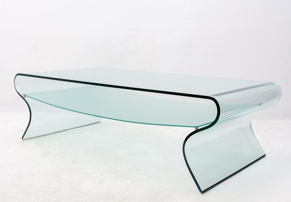 Charlotte coffee table by Fiam Italy, 1980s