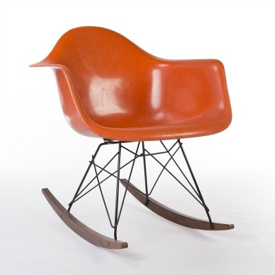 Orange Herman Miller Original Eames RAR Arm Shell Chair