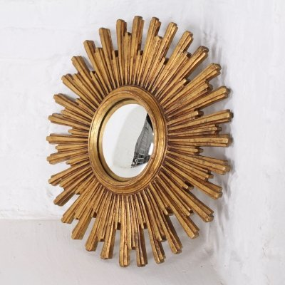 Belgian sunburst mirror by Deknudt, 1960s