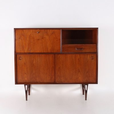 Scandinavian cabinet with 'V' shaped legs, 1960s