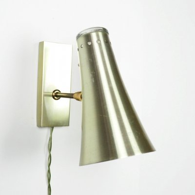 1960's metal wall lamp by Vitrika Sweden