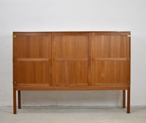 Teak highboard by Harry Østergaard for Randers Møbelfabrik AS, Denmark 1950's
