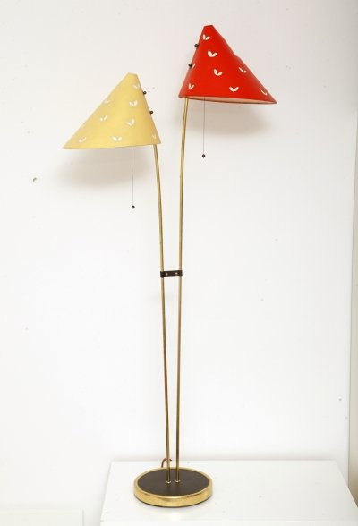 Brass 'Japanese' Floor Lamp by Napako, Czechoslovakia 1950s