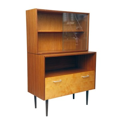 Vintage commode with bookcase, Czechoslovakia 1960s