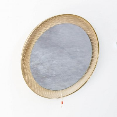 50s Floris H. Fiedeldij illuminated mirror for Artimeta