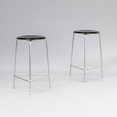 Pair of Arne Jacobsen 'M3170' stools for Fritz Hansen, 1970s
