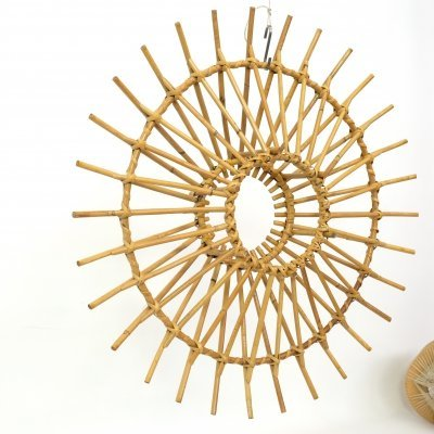 Rattan sun shaped mobile from the 1960s-1970s