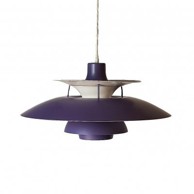 Purple PH5 Pendant by Poul Henningsen for Louis Poulsen