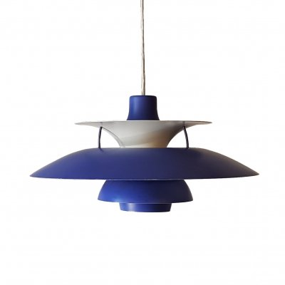 Blue PH5 Pendant by Poul Henningsen for Louis Poulsen