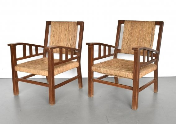 Pair of lounge chairs by Francis Jourdain, 1930s