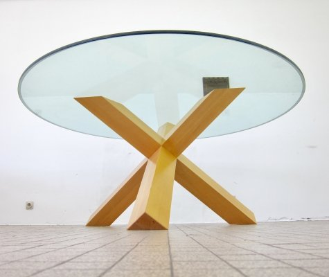 Vintage design Cassina 'La Rotonda' dining table by Mario Bellini, 1976