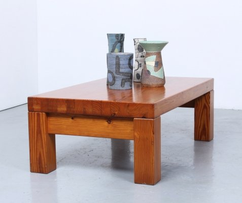 Heavy solid pine country style Danish coffee table
