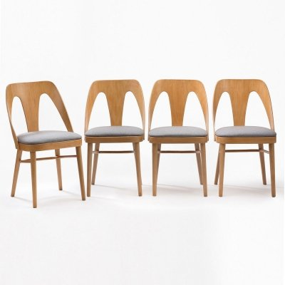 Set of 4 'A-1411' Fameg chairs, 1950s