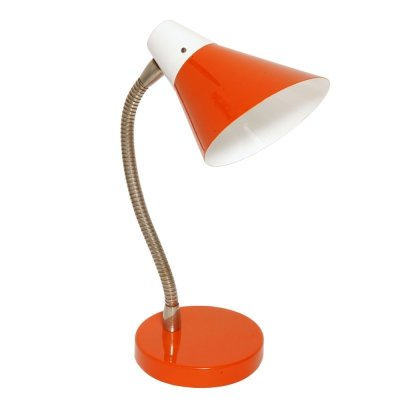 Orange desk lamp by Apolinary Gałecki, Poland 1970's