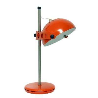 Orange desk lamp, Poland 1960's