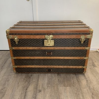 Goyard courrier steamer trunk, 1930s