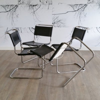 Set of 4 Cantilever Chairs S33 by Mart Stam for Thonet, 1980s