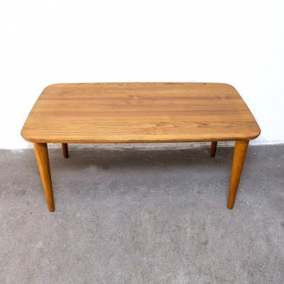 Solid Teak Coffee Table by P. Jeppesen, Denmark 1960s