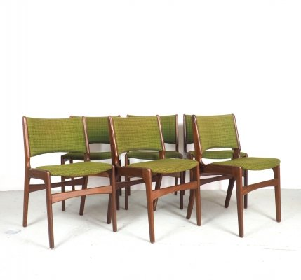 Set of 6 Erik Buch dining chairs model 89, 1960's