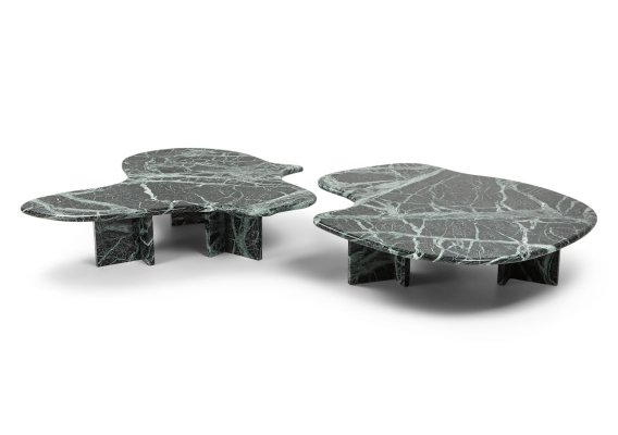 Post-modern Green Marble Coffee Tables, 1970s