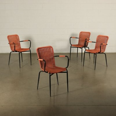 Set of 4 Vintage Outdoor Chairs, 1960s