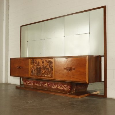 1940s Vintage Buffet with Mirror