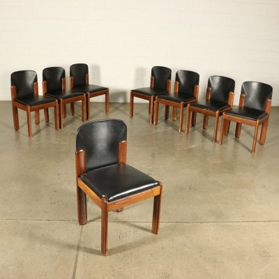 Set of 8 chairs by Silvio Coppola for Bernini, 1970s