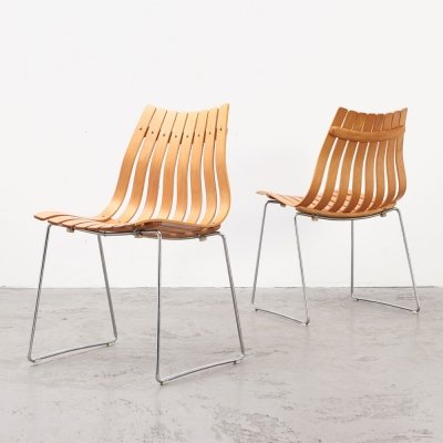 Pair of Scandia Chairs by Hans Brattrud for Hove Mobler, 1957