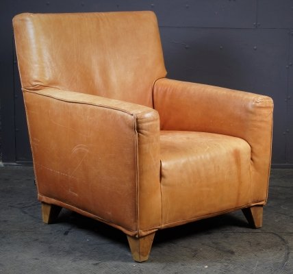 Cognac Club chair by Label, 1990s