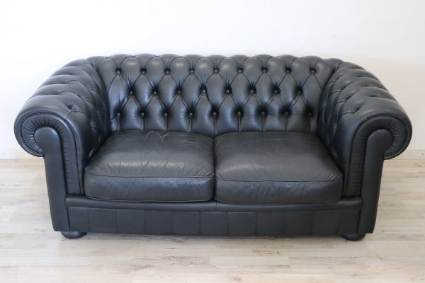 English Design Leather Chesterfield Sofa, 1960s