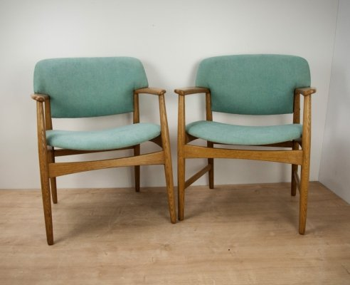 Pair of Mid-Century Armchairs by A. B. Madsen & E. Larsen, 1960s