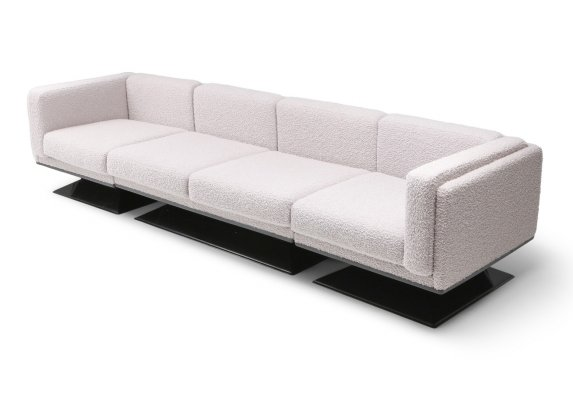 MIM Roma Sectional Sofa in Bouclé Wool by Luigi Pellegrin, 1960s