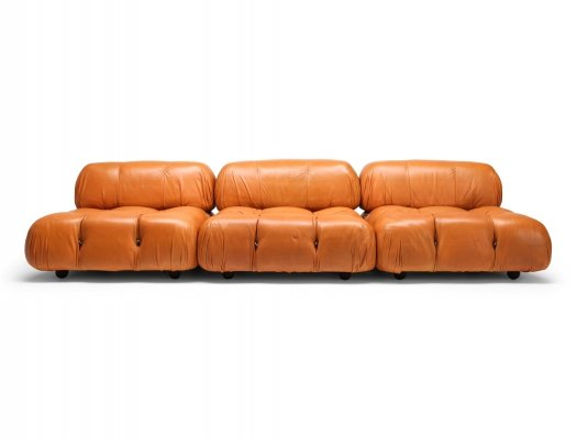 Mario Bellini 'Camaleonda' Sectional Sofa in Original Cognac Leather, 1970s