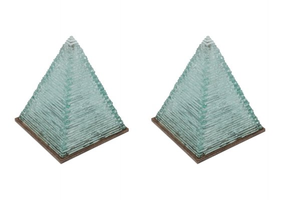 Pyramid Glass Lamps by Pia Manu, 1970s