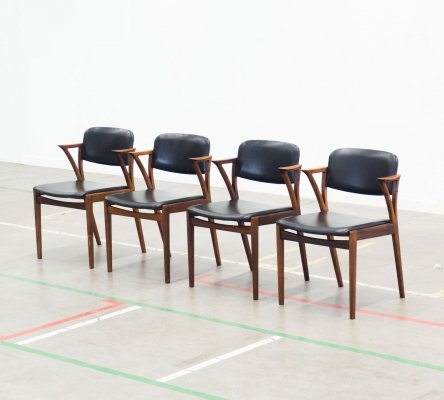 Set of 4 dining chairs by Kai Kristiansen for Bovenkamp, 1960s
